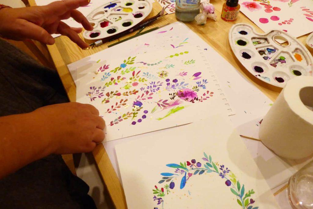 סדנת ציור בצבעי מים